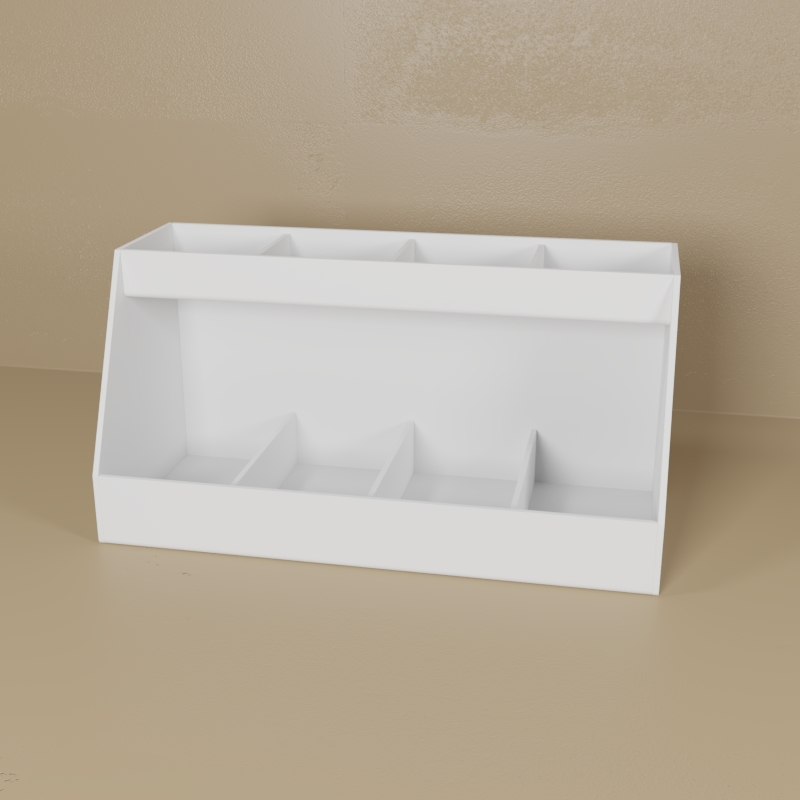 Small White PVC Bench Top Organizer
