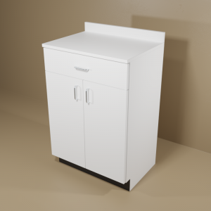 One Drawer, Two Door Standard Cabinet