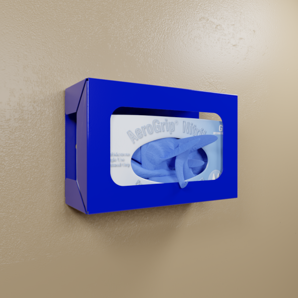 Blue Powder Coated Single Glovebox Dispenser
